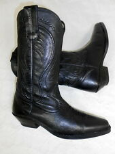 Santiags bottes boots cowboy western stiefel Botas Stivali cuir leather 38