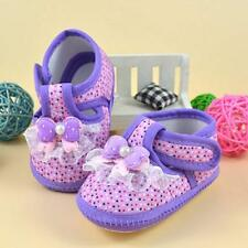1 Pair Kids Baby Girl Pink Soft Sole Crib Shoes Prewalker First Dot Shoes 11 Hot