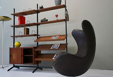 Olof midcentury Pira Teak Regal Trennwand Wall Unit rack shelf string sideboard