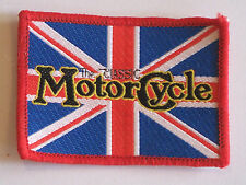 brand new old stock the classic motor cycle sew on patch union jack
