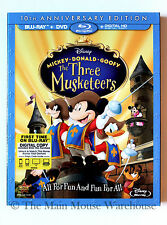 Disney Mickey The Three Musketeers Blu-ray DVD Digital Copy Includes Slipcover