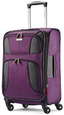 "Samsonite Luggage Aspire XLite 20"" Spinner Expandable Carry On Suitcase - Purple"