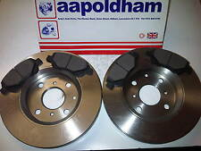 CITROEN C1 PEUGEOT 107 TOYOTA AYGO VENTED FRONT BRAKE DISCS & PAD SET 05 ON