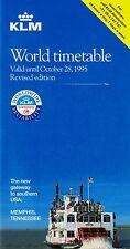 KLM Timetable  Valid until October 28, 1995 =