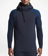 NEW NIKE SPORTSWEAR TECH FLEECE HALF ZIP HOODIE OBSIDIAN MENS L (805655-451) NWT