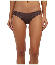 VITAMIN A ECOLUX SWIMWEAR PIN UP STAR RINGED BIKINI BOTTOMS BROWN D 12 NEW! $79