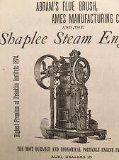 Antique 1876 Ad Shaplee Steam Engine Henry Snyder Philadelphia Agent Machine