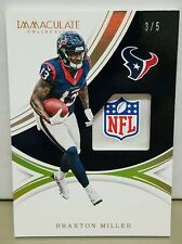 2016 Immaculate Collection Braxton Miller Gloves NFL Shields Patch RC #3/5