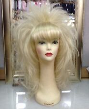 SIN CITY WIGS LIGHT BLONDE BEAUTY LONG STRAIGHT SLEEK TEASED SPIKY LAYERS BANGS