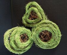 3 CHRISTMAS WREATH FRAMES. GREEN TWIGGY SISAL WIRE FRAME FOR YOU TO DECORATE