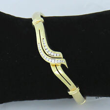 NYJEWEL 14k Solid Gold Brand New Amazing Diamond Bangle Bracelet 60x50mm $3500