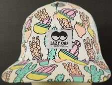 Lazy Oaf White Cactus Illustrated Baseball Hat Cap with Cloth Strap Adjust