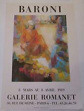 * MANIFESTO DI ARTE * MONIQUE BARONI * 1989