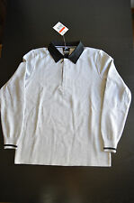 Nike NSW 1823 Rugby Shirt White Label Made In Italy Top LARGE Grey 503675 100