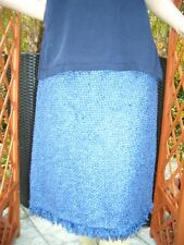 Edler Escada STRICK LUXUS COUTURE Boucle Rock 42/44/46 royal blau NP980,- skirt
