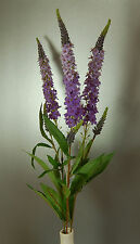 Three stems of Artificial Silk  Lavender colour Amelia Veronica Flowers
