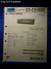 Sony Service Manual XR C9100R Car Stereo (#6530)