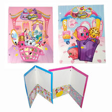 SHOPKINS FOOD 2pc File Folder for School Backpack Portfolio NEW