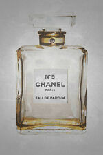POSTER Chanel No. 5 in Gold 12x18 Art Print Poster by Kelissa Semple