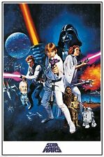 "STAR WARS POSTER / FILMPOSTER ""A NEW HOPE"""