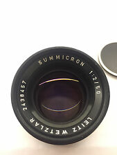 Leica Leitz Wetzlar Summicron M mount (Summicron-M) 50mm f2 black