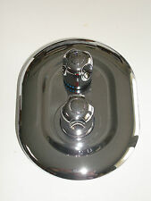 NEW 2 WAY OVAL ROUND STYLE CHROME THERMOSTATIC SHOWER MIXER TAP TAPS VALVE 063N