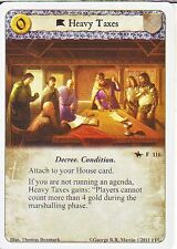 3 x Heavy Taxes AGoT LCG 1.0 Game of Thrones A Poisoned Spear 116