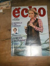 Echo de la mode N° 7 1969 Patron Mode vintage Couture Robe Tricot Enfant 60'