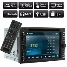 "Double 2 Din 6.2"" HD Car Touch Stereo MP3 DVD Player iPod Radio Bluetooth USB HL"