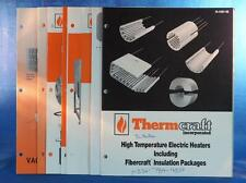 Vintage Thermcraft High Temperature Electric Heaters Catalogue Brochure Lot dq