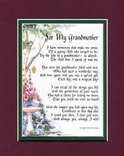 #37 Gift present keepsake poem for a grandmother 50th 60 70th 80th birthday