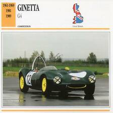 1961-1989 GINETTA G4 Racing Classic Car Photo/Info Maxi Card