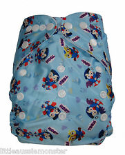 Reusable Modern Cloth Nappy (MCN) + Microfibre insert – Giggle and Hoot the Owl