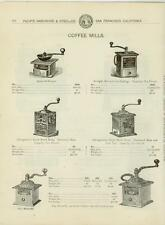 Catalog Page Ad Coffee  Mills Clothes Wringers  San Francisco California 1902