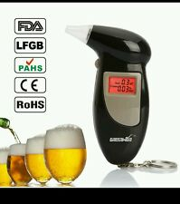 Digital LCD Display Alcohol Tester Audible Alert Breathalyzer with Key Chain