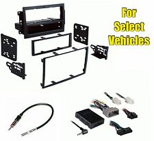 Car Stereo Radio Install Dash Kit Combo select Vehicles w/Steering Audio Control