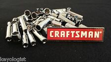 "CRAFTSMAN Socket Set 1/4"" drive SAE MM STD and DEEP 6pt 12pt 64pc NEW"