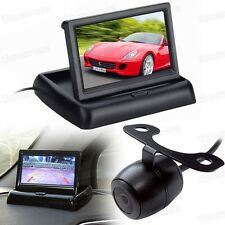 "12V 4.3"" TFT LCD Screen Folded Monitor DVD + Car Rearview Camera CCD for All Car"