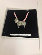 Ram PP-SS10 Pewter Pendant on a PINK CORD Necklace