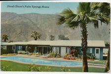 Dinah Shore's Palm Springs Home Postcard 1950s