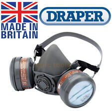 DRAPER Expert A1/P2 Vapour Dust Twin Filter Cartridge Half Face Respirator,13500