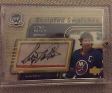 2005-2006 THE CUP Denis Potvin SCRIPTED SWATCHES AUTO PATCH #05/15 1/1