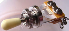QUALITY 3 WAY TOGGLE SWITCH - ELECTRIC GUITAR -  CREAM