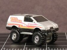 Hot Wheels Tall Ryder 1984 Die Cast Hong Kong 4X4 silver truck van 4 big wheel