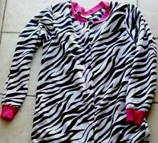 NEW Black & White Zebra Footed Pajamas Costume Pink 1 PC L or XXL LAST ONE GIFT