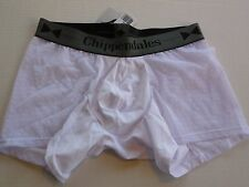 "NWT CHIPPENDALES MEN'S WHITE MESH SHEER BOXER BRIEF SIZE S SMALL 29""-32"" + WAIST"