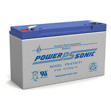 Power-Sonic PS-6100 6V 12AH SLA Battery Replaces NP10-6 NP12-6 PE6V10 PE6V12