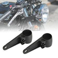 Black Headlight Mount Bracket Fork Tube for Motorcycle Bobber Cafe Racer Chopper