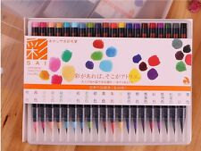 Akashiya Sai 20 Colors Watercolor Soft Calligraphy Brush Pen Set Art Supply