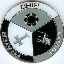 A Chip, a Chair, and a Prayer Poker Weight Card Guard Cover Chip Coin, New, Free